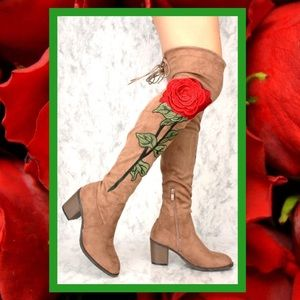SEXY ROSE EMBROIDERED BOOTS
